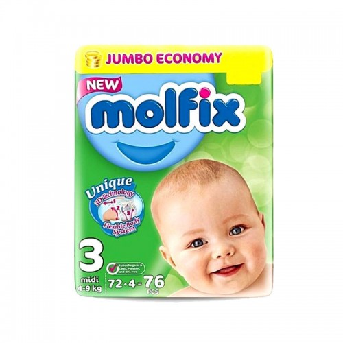 Molfix Baby Diapers 3 Midi 72pcs