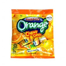 Parago Orange Mini Chews Candy Pouch 60gm