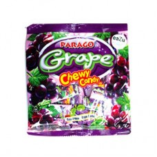 Parago Grape Mini Chews Candy Pouch 60gm