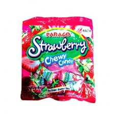 Parago Strawberry Mini Chews Candy Pouch 60gm