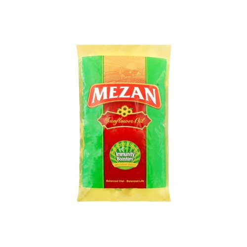 Mezan Sunflower Cooking Oil Pouch 1ltr