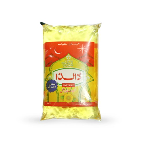 Dalda Sunflower Cooking Oil Pouch 1ltr