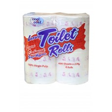 Cool & Cool Printed Embossed Toilet Roll T-1863 4pcs