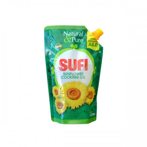 Sufi Sunflower Cooking Oil Standing Pouch 1X5ltr