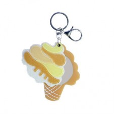 Chaseup Acrylic Key Chain Icecream Cone Brown