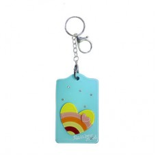 Chaseup Acrylic Key Chain Flat Heart Blue