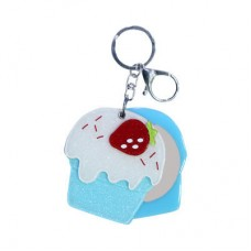 Chaseup Acrylic Key Chain Icecream Strawbery Blue