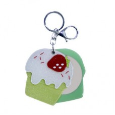 Chaseup Acrylic Key Chain Icecream Strawbery Green