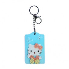 Chaseup Acrylic Key Chain Flat Kitty Blue