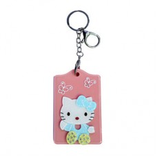 Chaseup Acrylic Key Chain Flat Kitty Peach