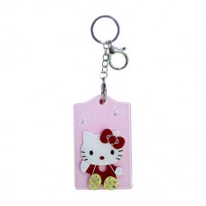 Chaseup Acrylic Key Chain Flat Kitty Pink