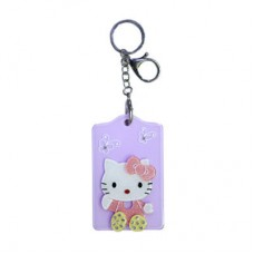 Chaseup Acrylic Key Chain Flat Kitty Purple
