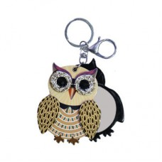 Chaseup Acrylic Key Chain OWL Brown