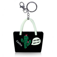 Chaseup Acrylic Key Chain Cactus Basket Black