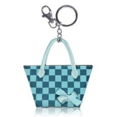 Chaseup Acrylic Key Chain Check Basket Blue