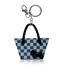 Chaseup Acrylic Key Chain Check Basket Gray