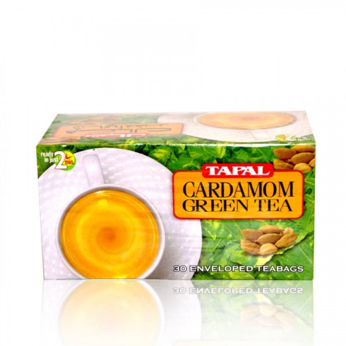 Tapal Cardamom Green Tea T/B 45gm 30pcs