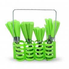 Yes House S-S Cutlery Set W-Holder 24pcs P-1099 C