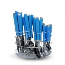 Yes House S-S Cutlery Set W-Holder 24pcs P-1099 A