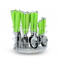 Yes House S-S Cutlery Set W-Holder 24pcs P-1099 B