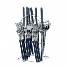 Yes House S-S Cutlery Set Black 24pcs P-2999 B