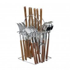 Yes House S-S Cutlery Set Black 24pcs P-2999 C