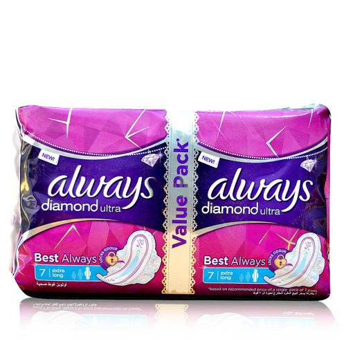 Always Diamond Thin Sanitary Pads Long 8pcs