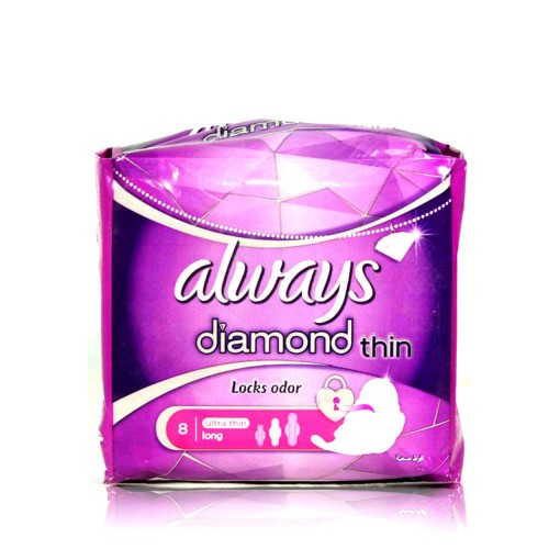 Always Diamond Thin Sanitary Pads XLong 7pcs