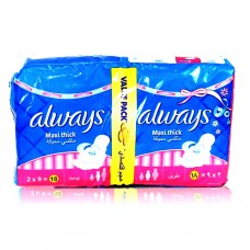 Always Maxi Thick Sanitary Pads Long 2x9 18pcs