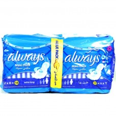 Always Maxi Thick Sanitary Pads XLong 16pcs