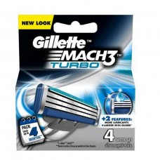 Gillette Mach 3 Turbo Cartridges 4pcs