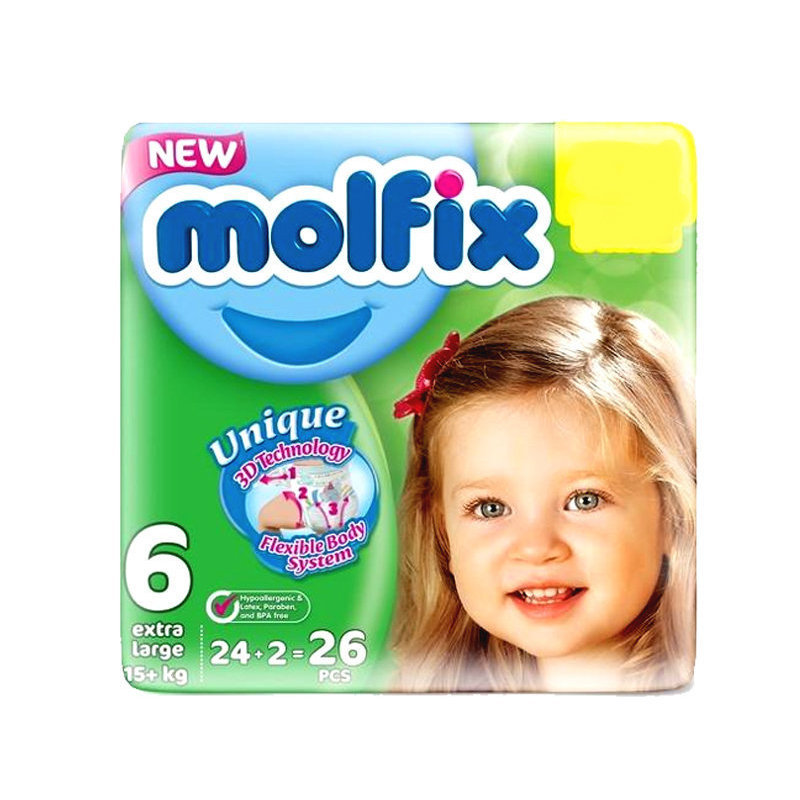 Molfix Baby Diapers 6 XLarge 24pcs