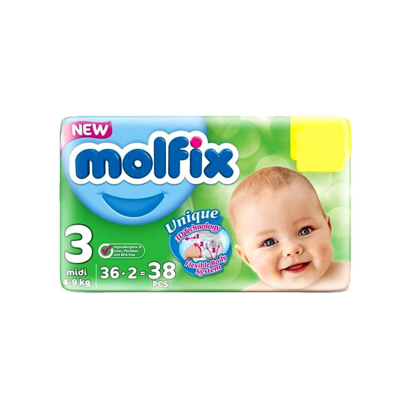 Molfix Baby Diapers 3 Midi 36pcs
