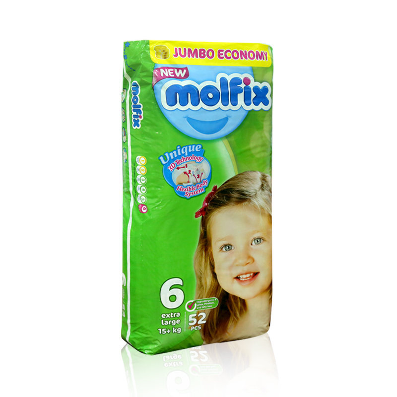 Molfix Baby Diapers 6 XLarge 52pcs