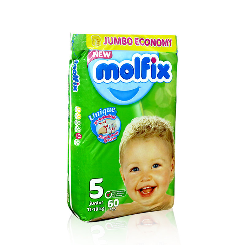Molfix Baby Diapers 5 Junior 60pcs