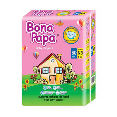 Bona Papa Baby Diapers New Born 50pcs