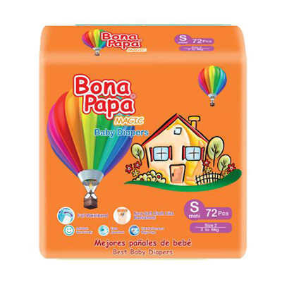 Bona Papa Baby Diapers Small 72pcs