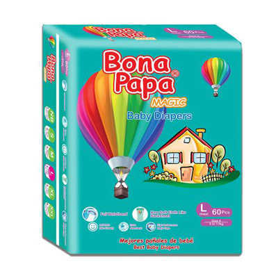 Bona Papa Baby Diapers Large 60pcs