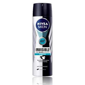 Nivea Invisible Black & White Fresh Men Body Spray 150ml