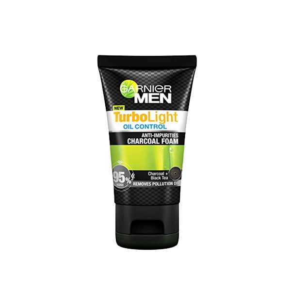 Garnier Men Turbo Light Charcoal Black Facial Foam 100ml
