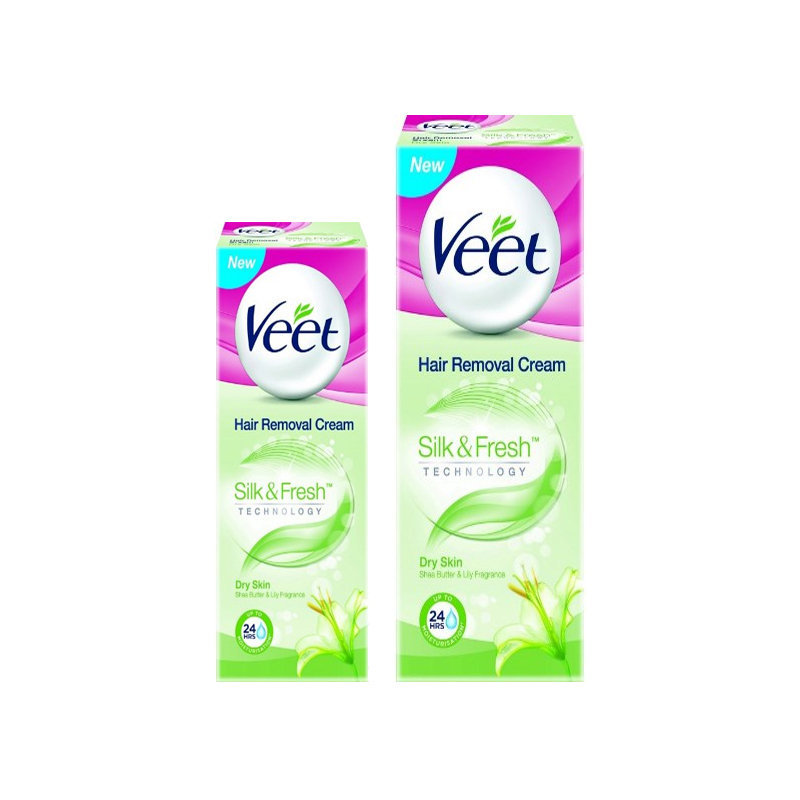 Veet Dry Hair Removing Cream 100gm+50gm 2pcs