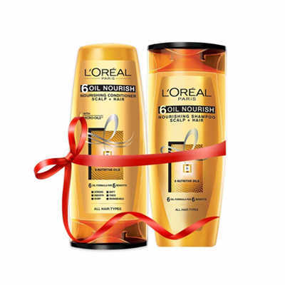 Loreal 6 Oil Nourish Shampoo n Conditioner 175ml n 175ml