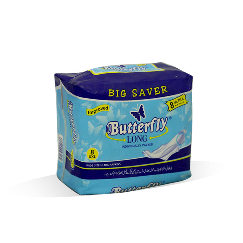 Butterfly Long Ultra Napkin XXlarge 8pcs
