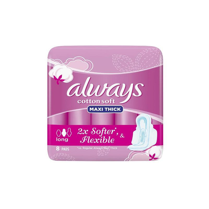 Always Maxi Thick Cotton Soft Sanitary Pads Long 7pcs