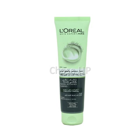 Loreal Pure Clay Charcoal Gel Face Wash 150ml