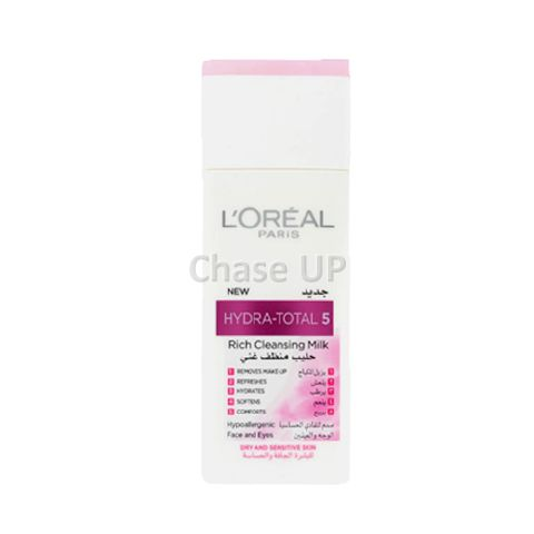 Loreal Hydra Total 5 Rich Sensitive Cleansing Milk 200ml