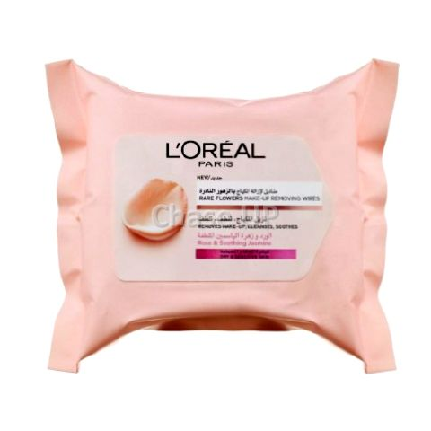 Loreal Rare Flowers Dry & Sensitve Makeup Remover Wipes 25pcs