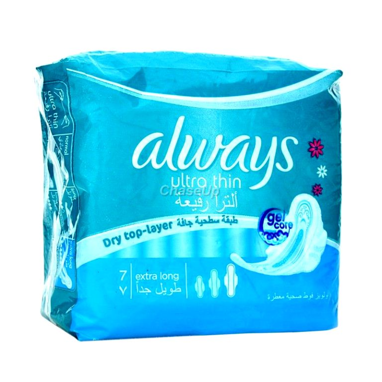 Always Ultra Thin Sanitary Pads XLong 7pcs