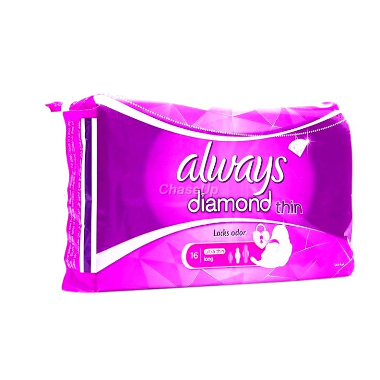 Always Diamond Thin Sanitary Pads Thin Long 14pcs
