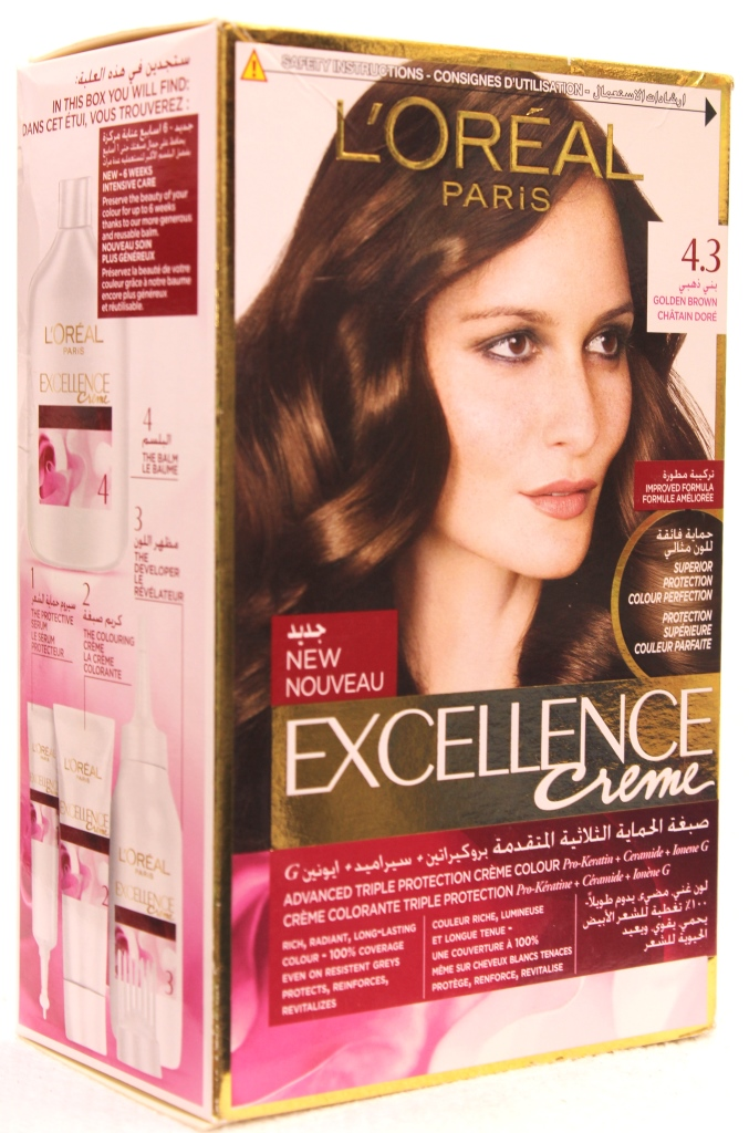 Loreal Excellence Creme Hair Color 4-3 172ml